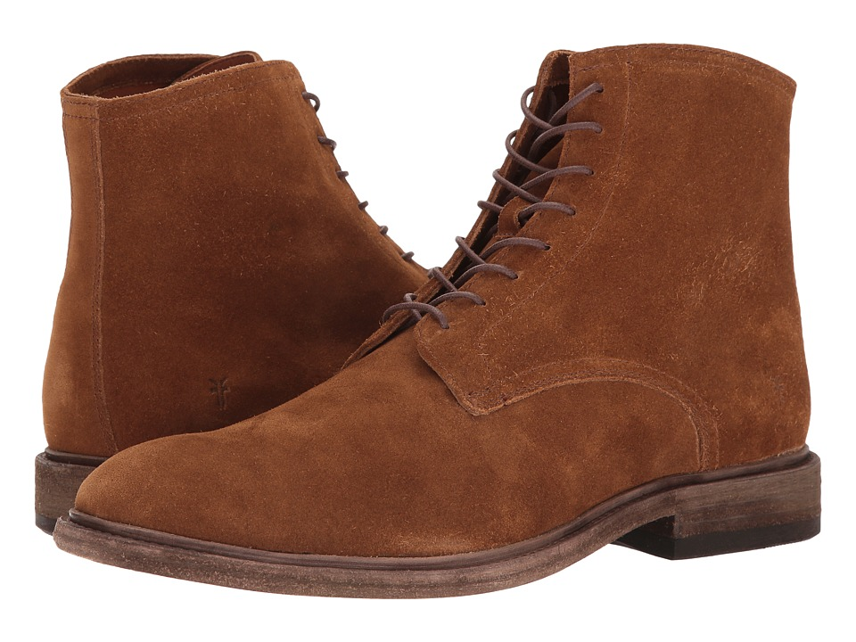 Frye Chris Lace-Up (Copper Oiled Suede) Men