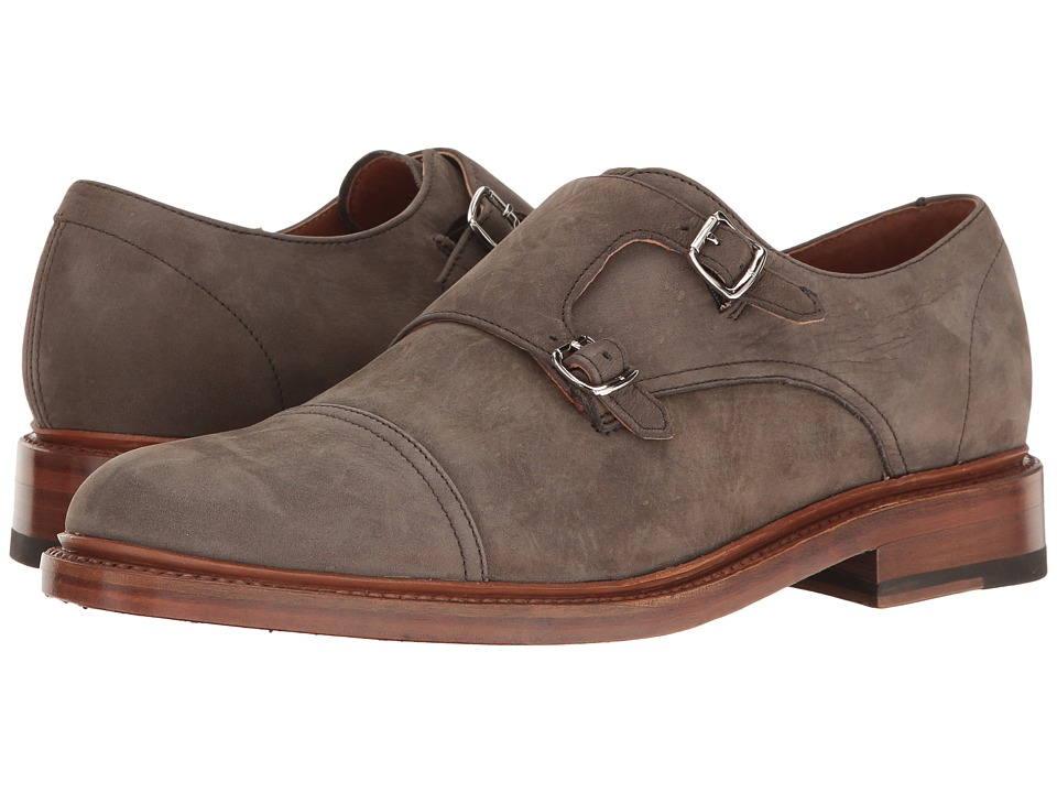 Frye Jones Double Monk (Ash Soft Italian Nubuck) Men