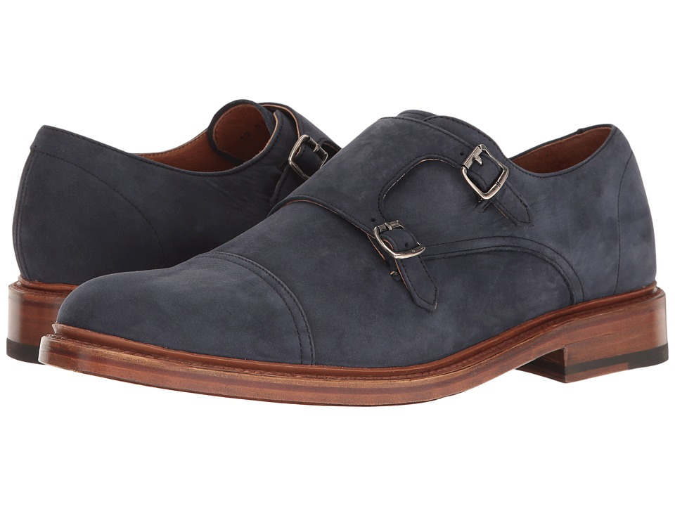 Frye Jones Double Monk (Indigo Soft Italian Nubuck) Men