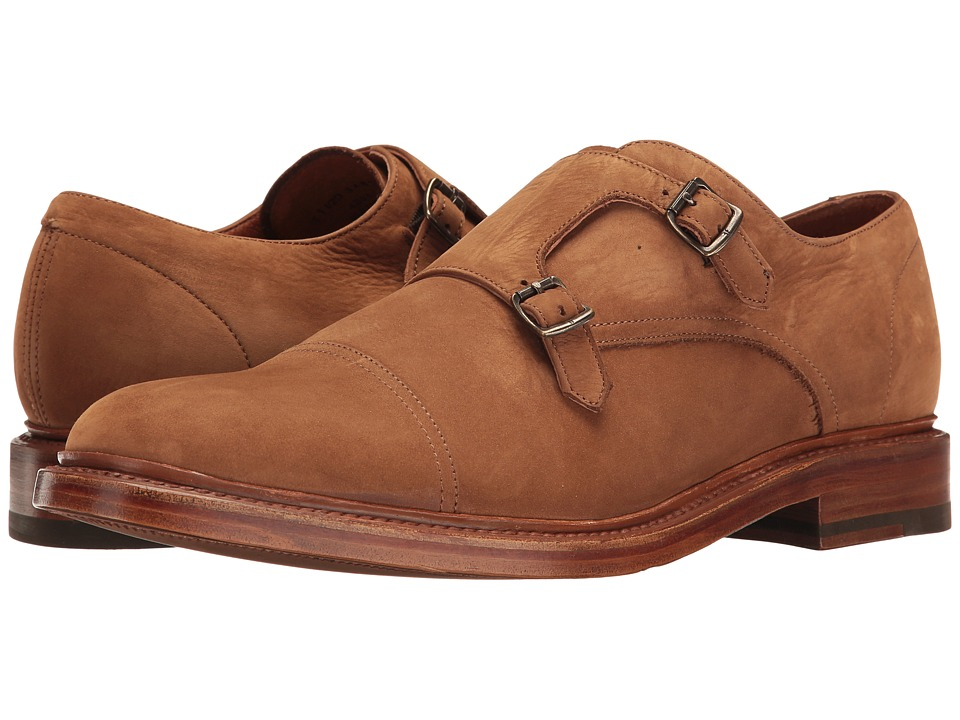 Frye Jones Double Monk (Tobacco Soft Italian Nubuck) Men