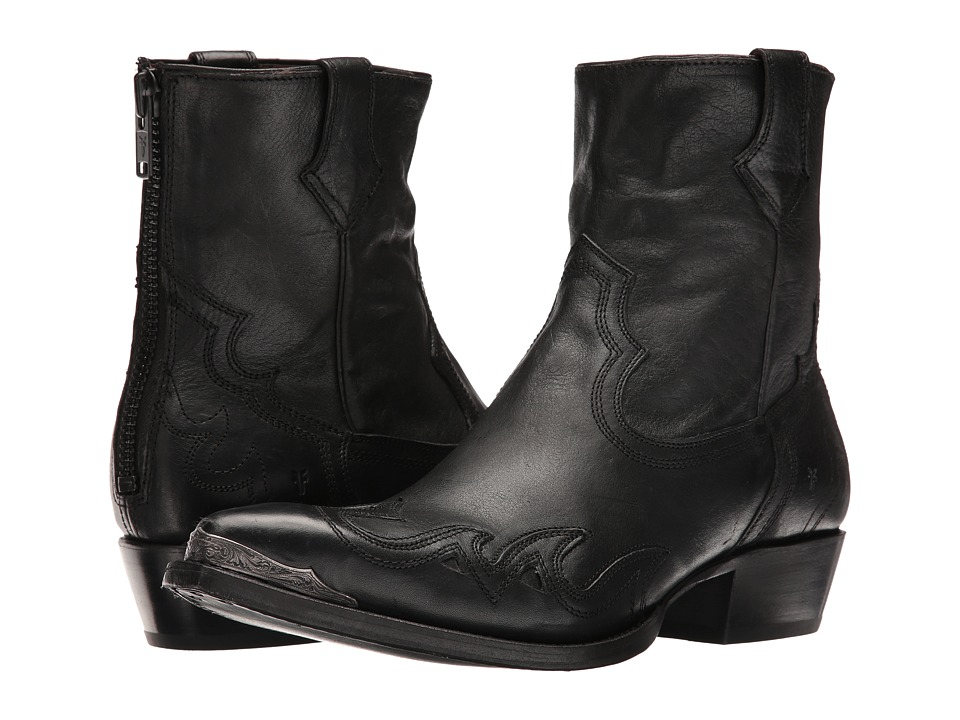 Frye - Lou Overlay (Black Pressed Full Grain) Mens Boots