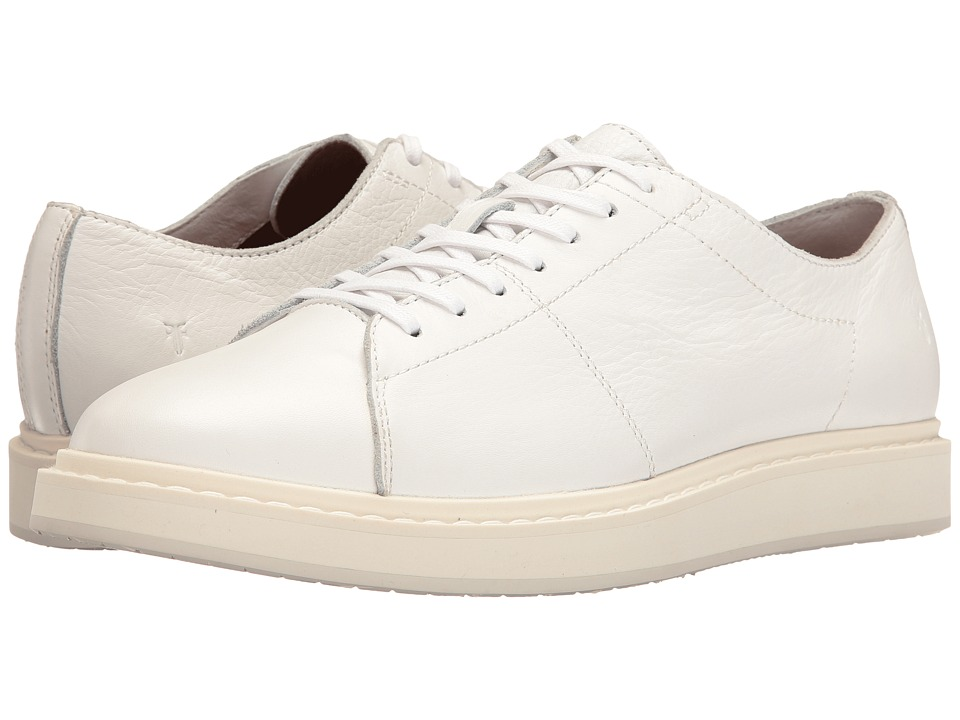 Frye Mercer Low Lace (White Tumbled Cow) Men