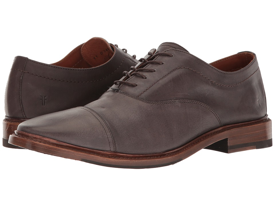 Frye Paul Bal Oxford (Grey Pressed Full Grain) Men's Shoes