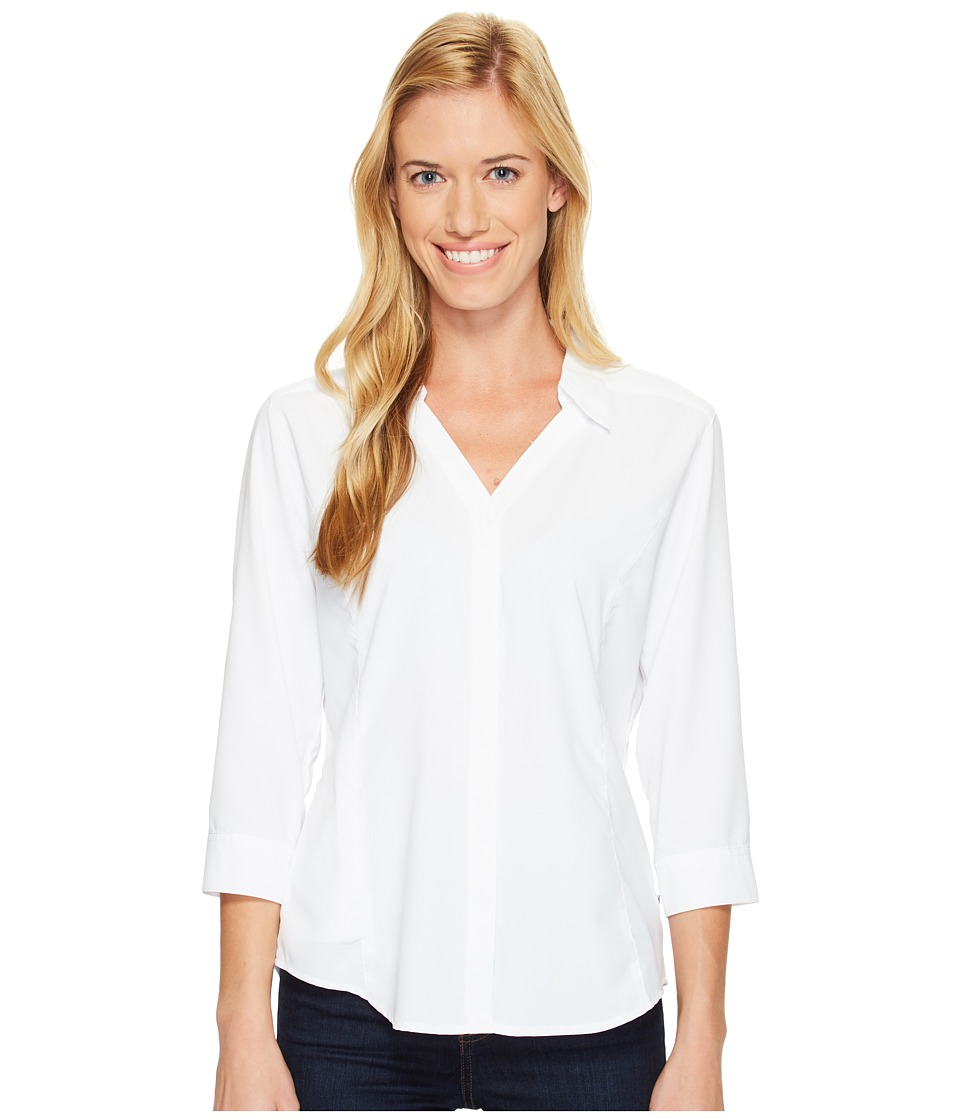 Etounes sam edelman stretch poplin w sheer detail white for Royal robbins expedition shirt 3 4 sleeve women s
