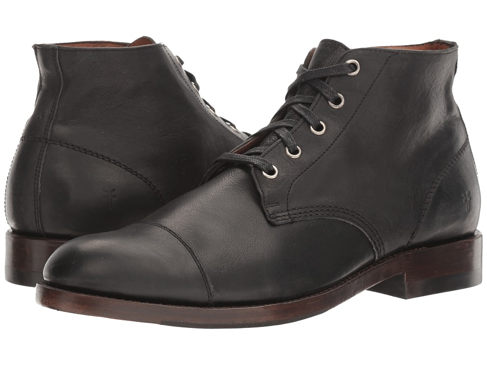 Frye - Will Chukka (Black Pressed Full Grain) Mens Boots