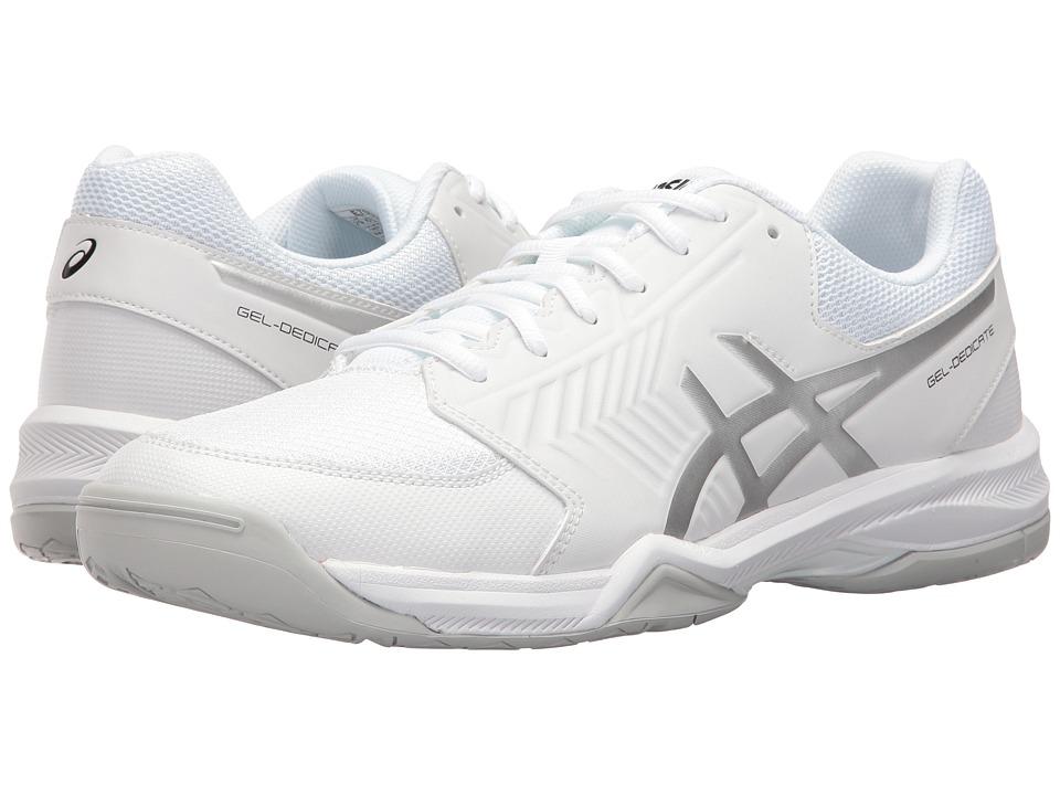 Asics Gel-Dedicate 5 (White/Silver) Men's Tennis Shoes