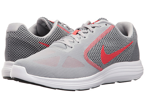 Nike Revolution 3 - Wolf Grey/Track Red/Black