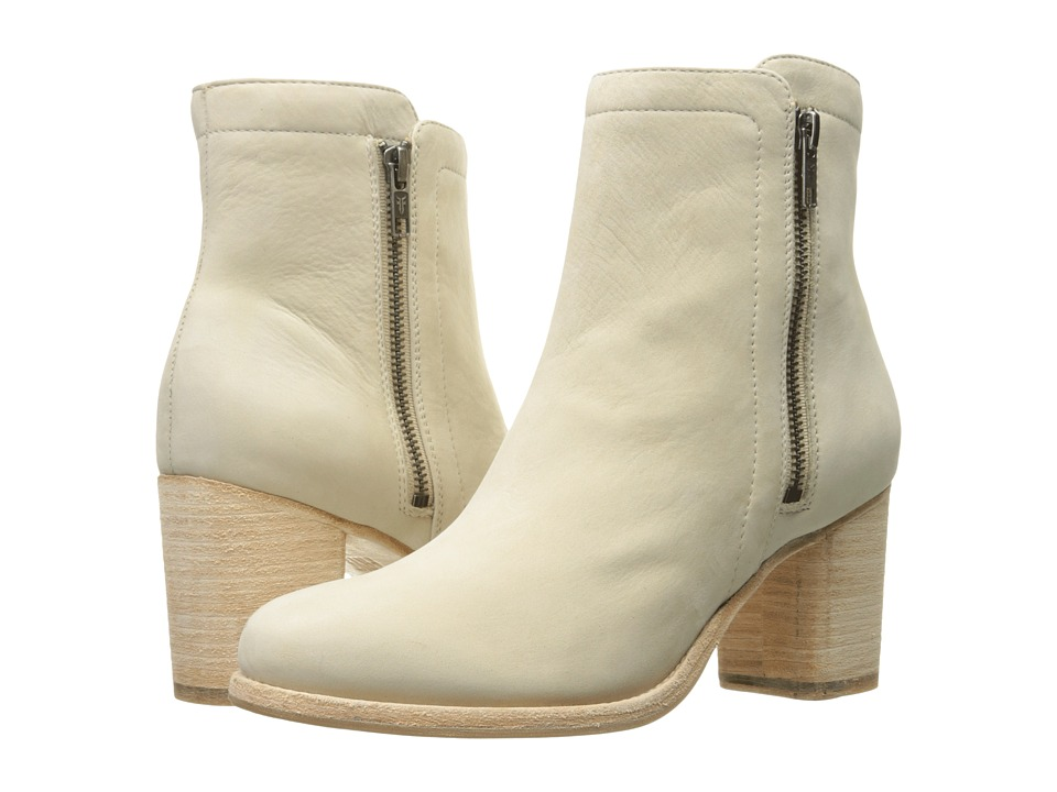 Frye Addie Double Zip (Ivory Soft Italian Nubuck) Women