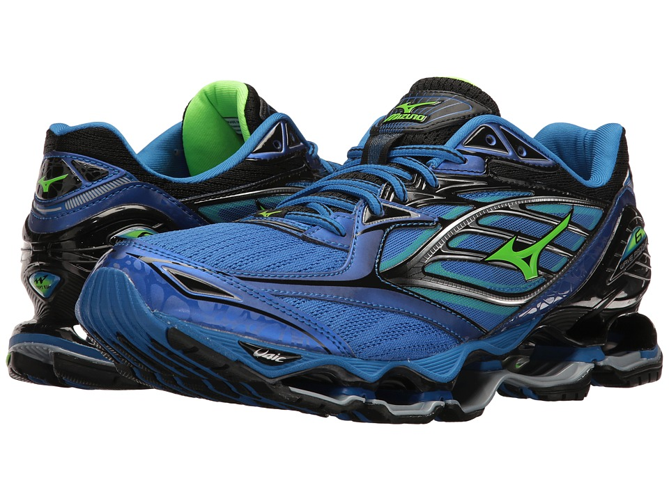 Mizuno Wave Prophecy 6 (Strong Blue/Green Gecko/Black) Me...