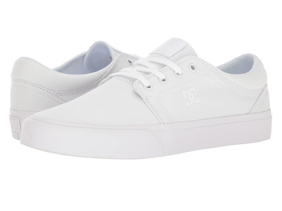 DC - Trase TX (White/White/White) Skate Shoes