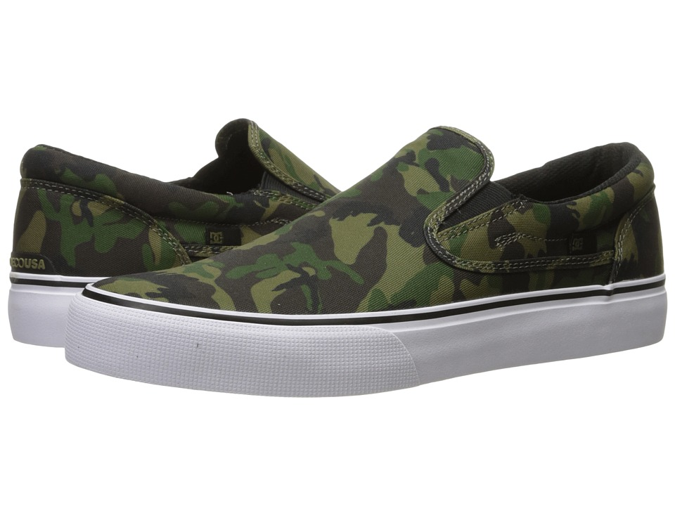 DC - Trase Slip-On SP (Camo/White) Skate Shoes