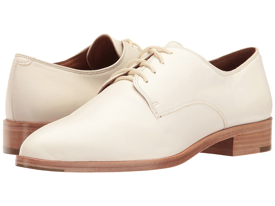 1940s Style Mens Shoes Frye - Erica Oxford White Nappa Lamb Womens Shoes $194.99 AT vintagedancer.com