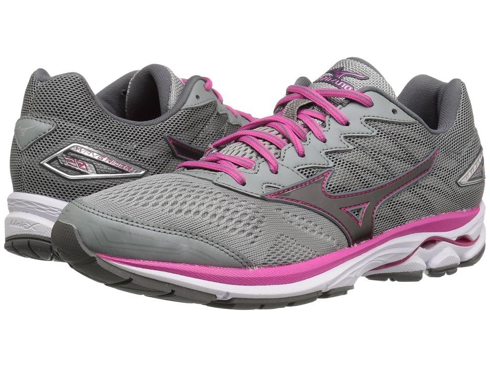 Mizuno - Wave Rider 20 (Griffin/Fuchsia Purple/White) Womens Running Shoes