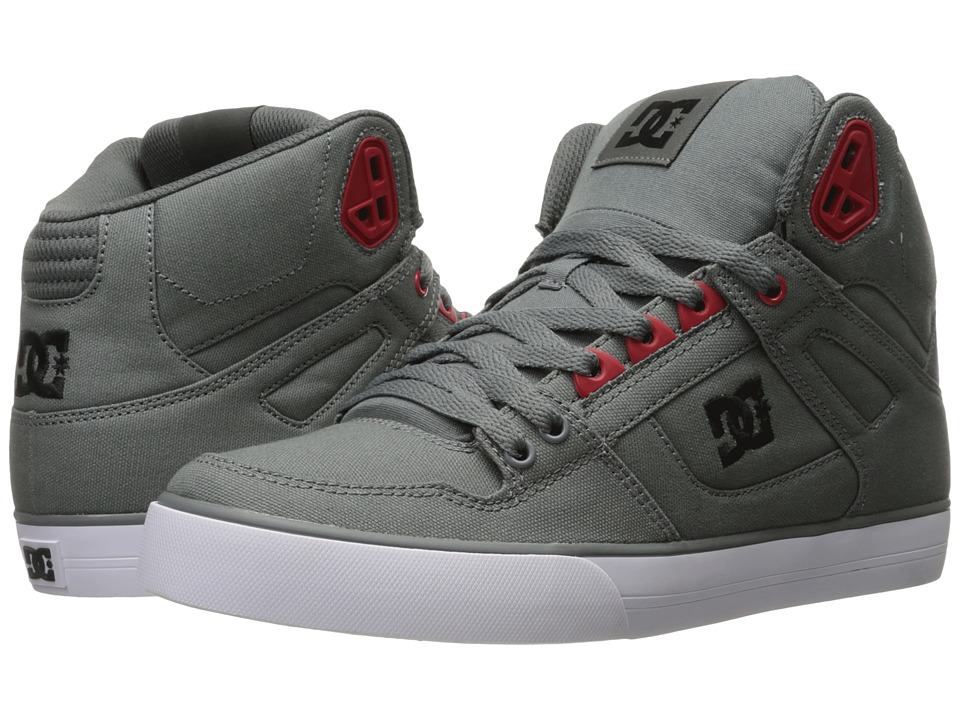 DC - Spartan High WC TX (Grey/Black/Red) Mens Shoes