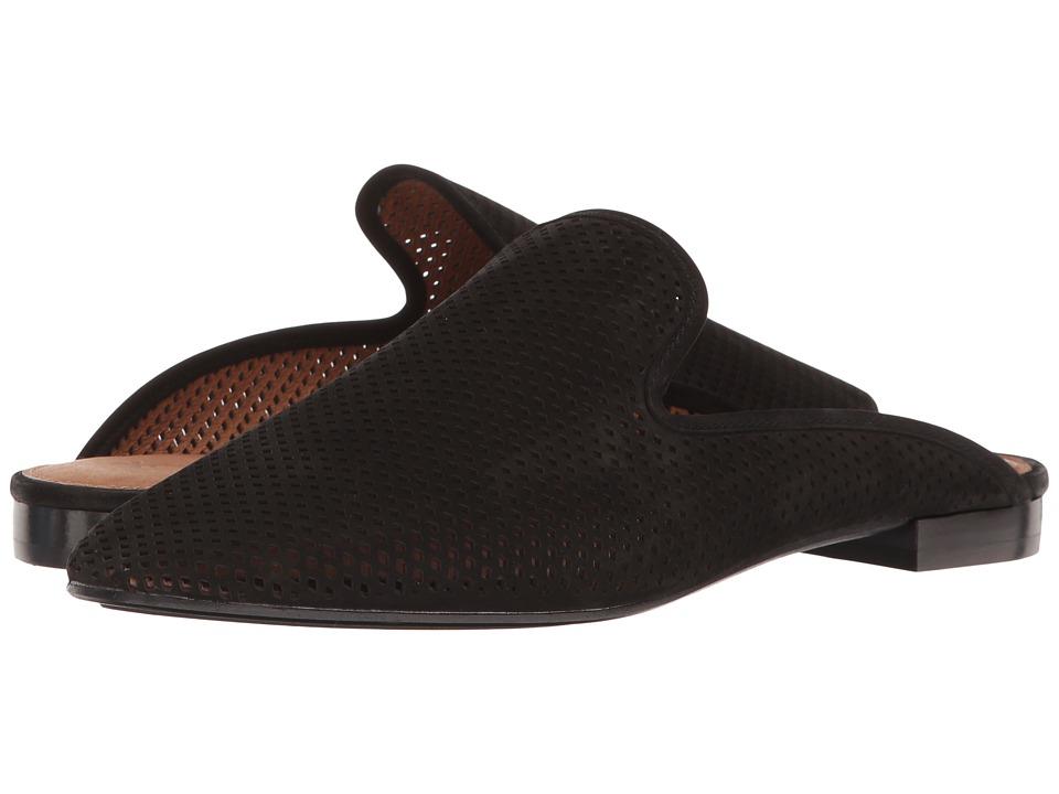 Frye Gwen Perf Slide (Black Oiled Nubuck) Women