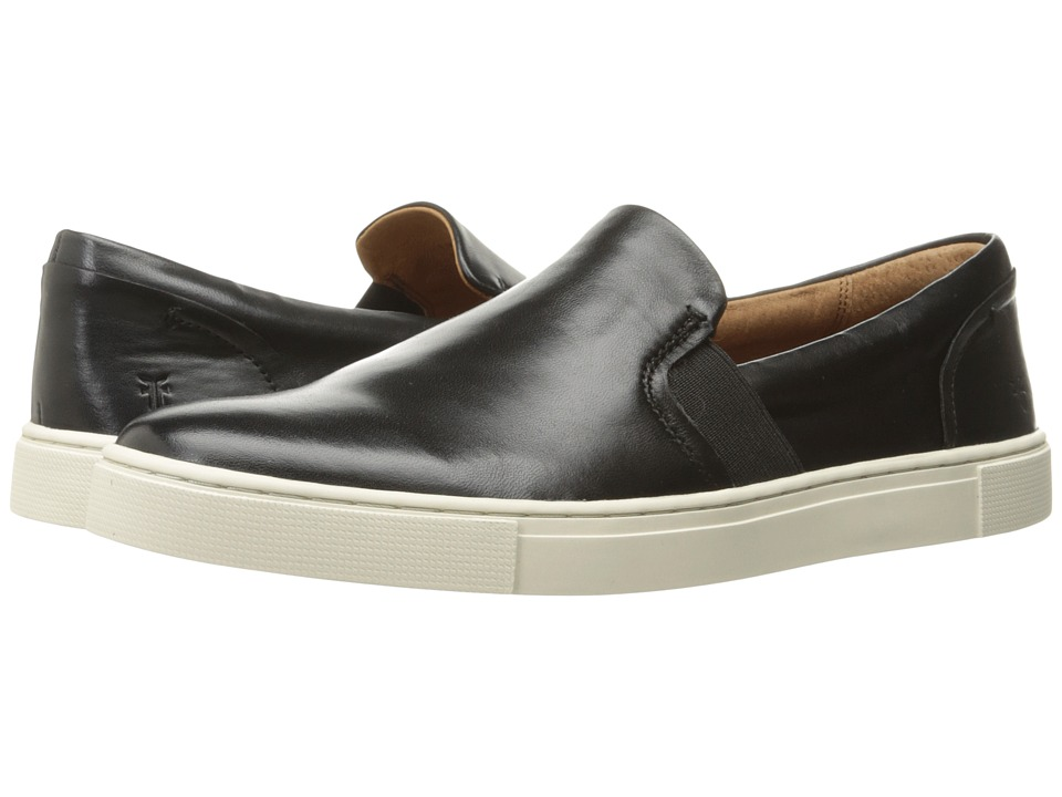 Frye Ivy Slip (Black Soft Nappa Lamb) Slip-On Shoes