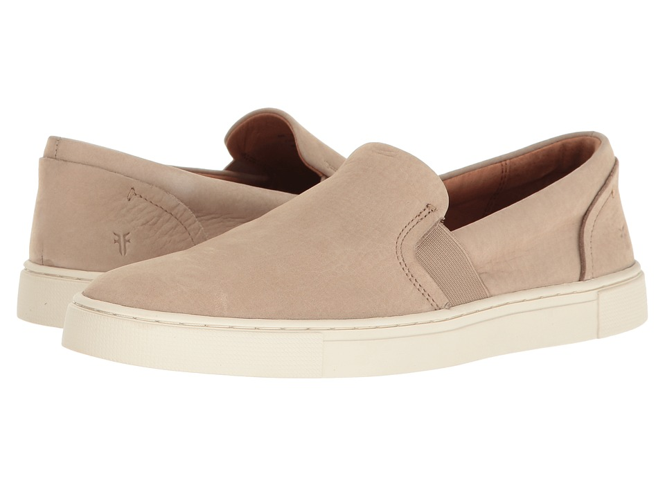 Frye Ivy Slip (Taupe Soft Italian Nubuck) Slip-On Shoes