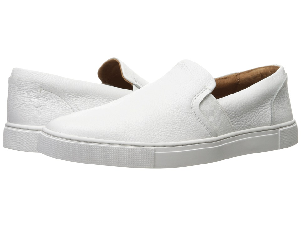 Frye Ivy Slip (White Tumbled Bovine) Slip-On Shoes