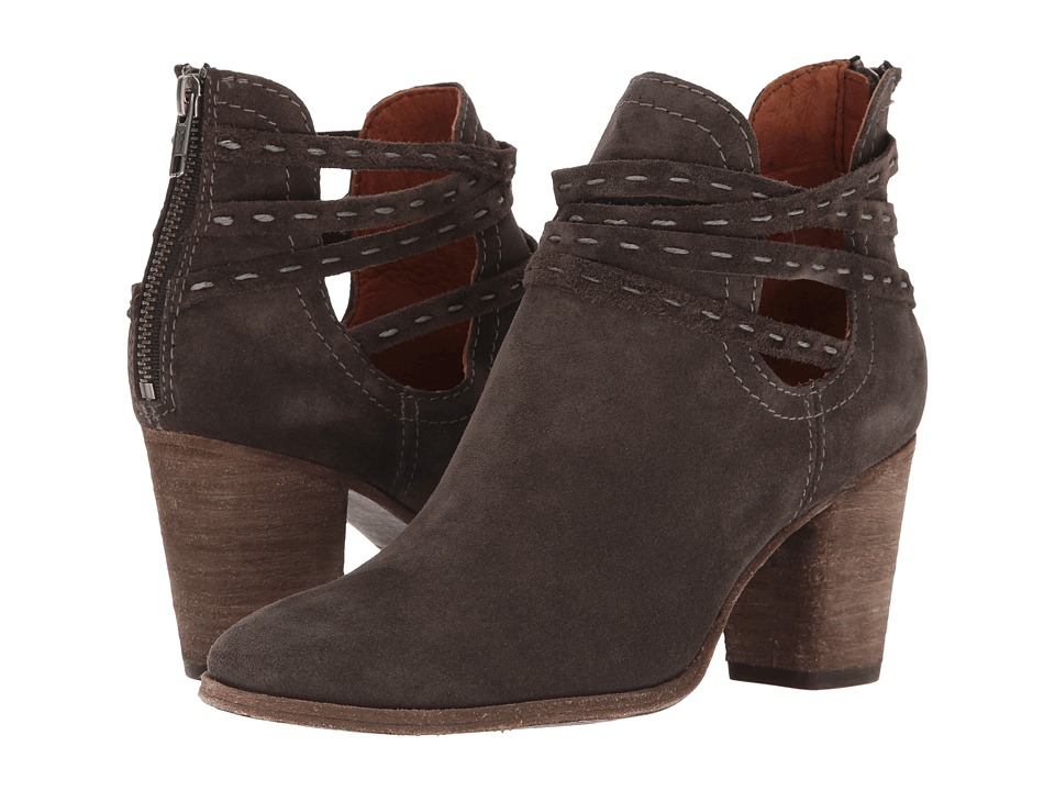Frye Naomi Pickstitch Shootie (Grey Oiled Suede) Women