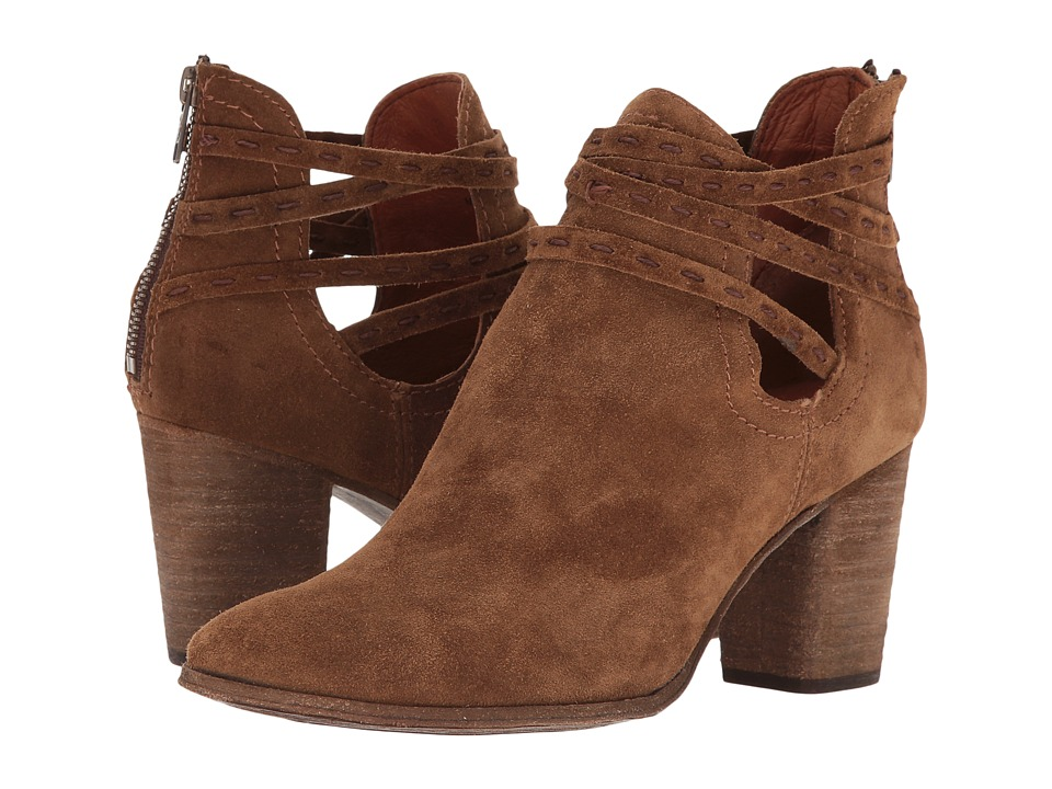 Frye Naomi Pickstitch Shootie (Chestnut Soft Oiled Suede) Women