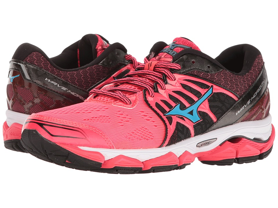 Mizuno - Wave Horizon (Diva Pink/Black/Atomic Blue) Women's Running Shoes
