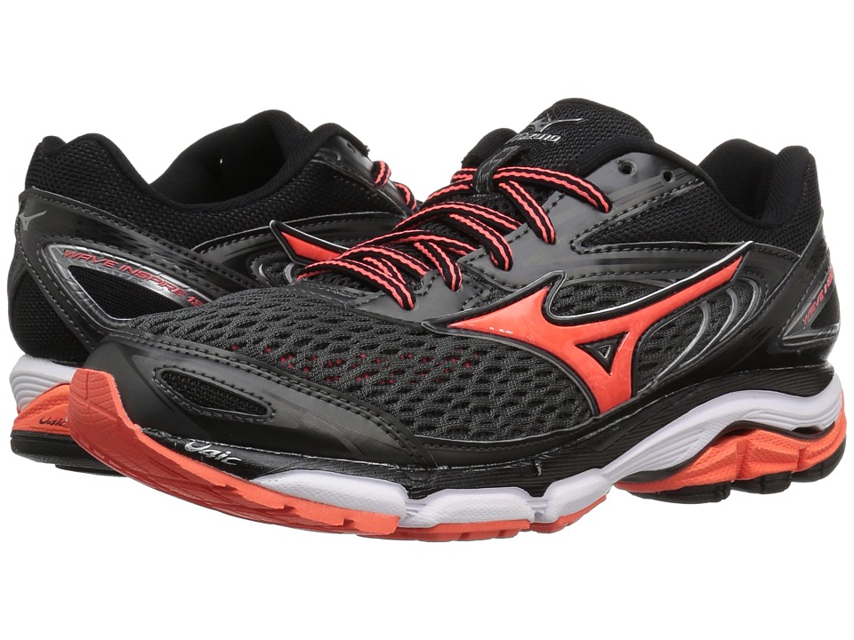 Mizuno - Wave Inspire 13 (Dark Shadow/Fiery Coral/White) Womens Running Shoes
