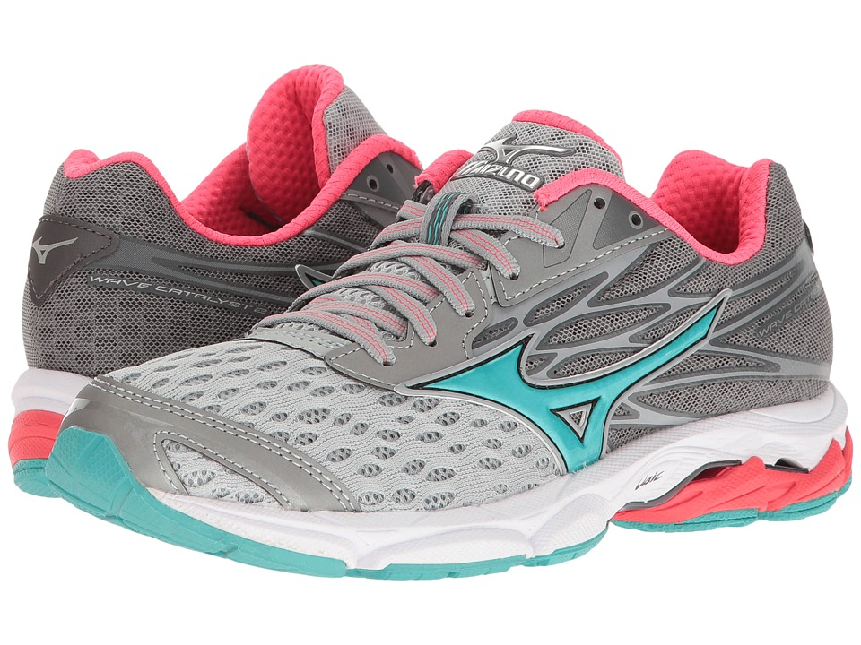 Mizuno - Wave Catalyst 2 (High-Rise/Turquoise/Diva Pink) Women's Running Shoes