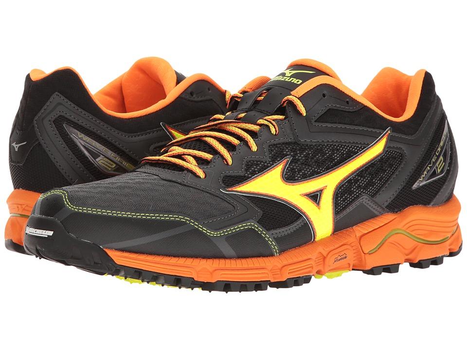 Mizuno - Wave Daichi 2 (Dark Shadow/Clownfish/Safety Yellow) Men's Running Shoes