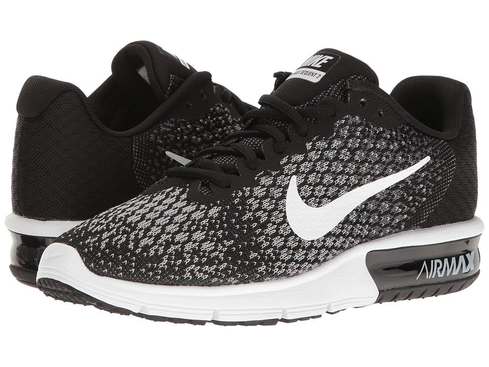 Nike Air Max Sequent 2 (Black/White/Dark Grey/Wolf Grey) Women