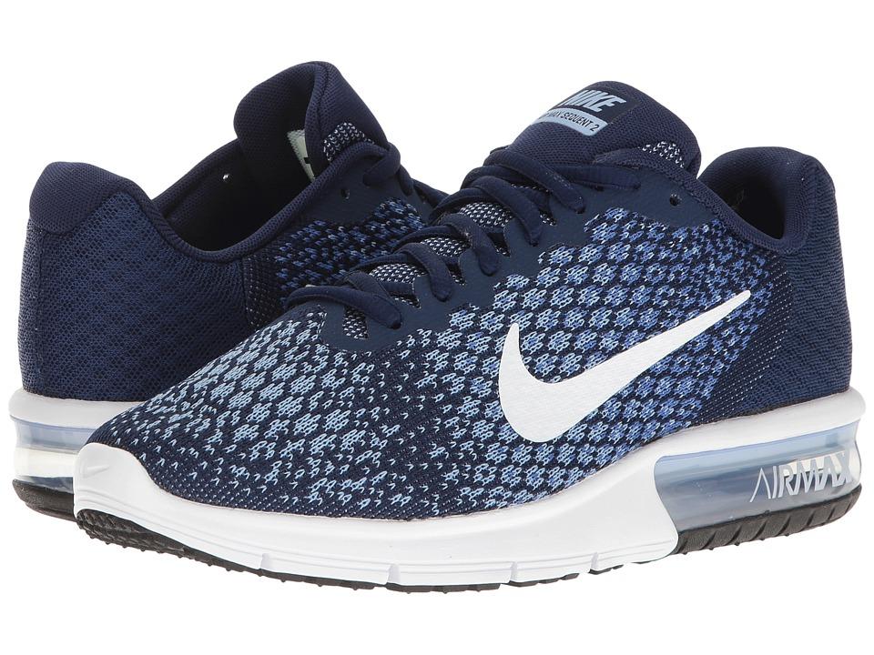 Nike Air Max Sequent 2 (Binary Blue/White/Comet Blue/Aluminum) Women