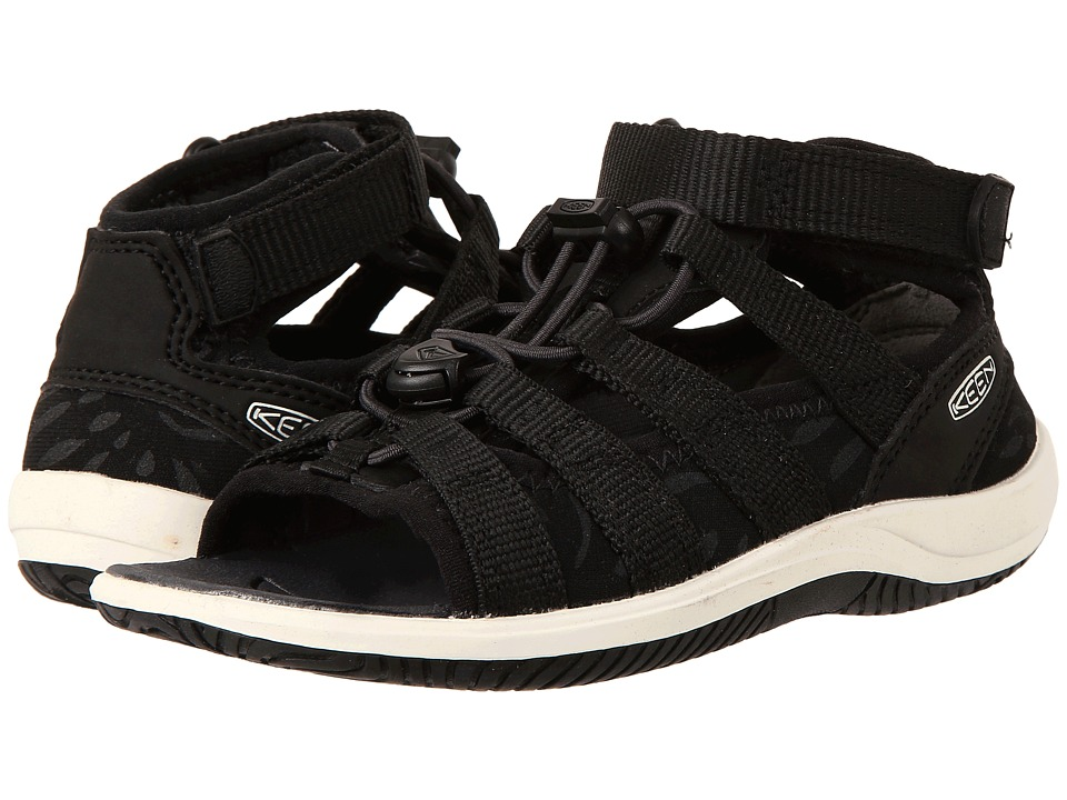Keen Kids Hadley (Toddler/Little Kid) (Black/White) Girl's Shoes