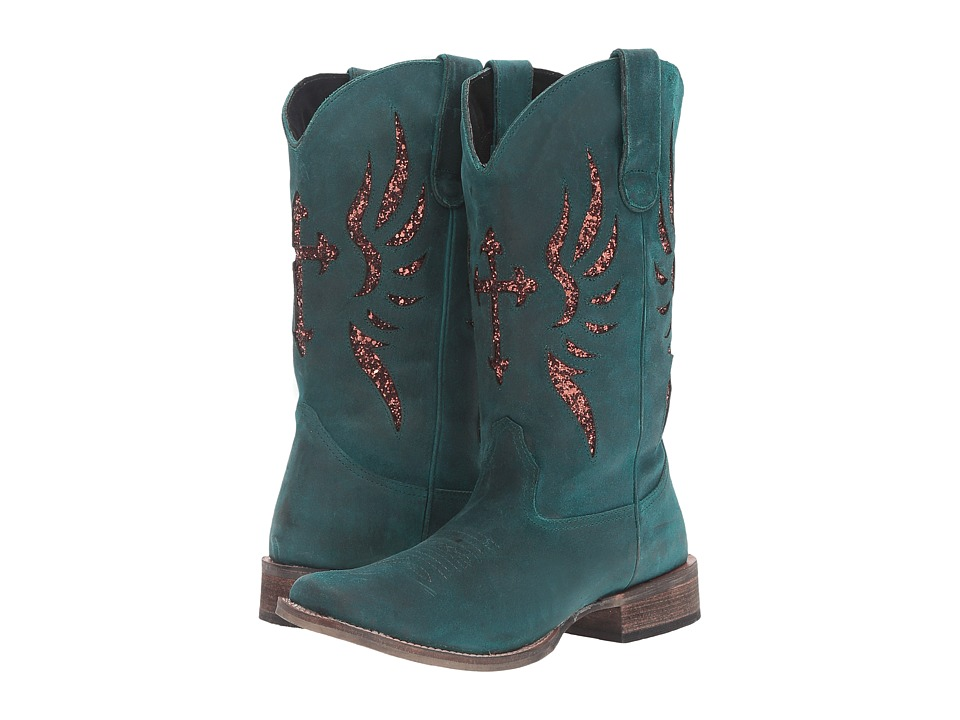 Roper Glitter Wings (Turquoise/Bronze) Women