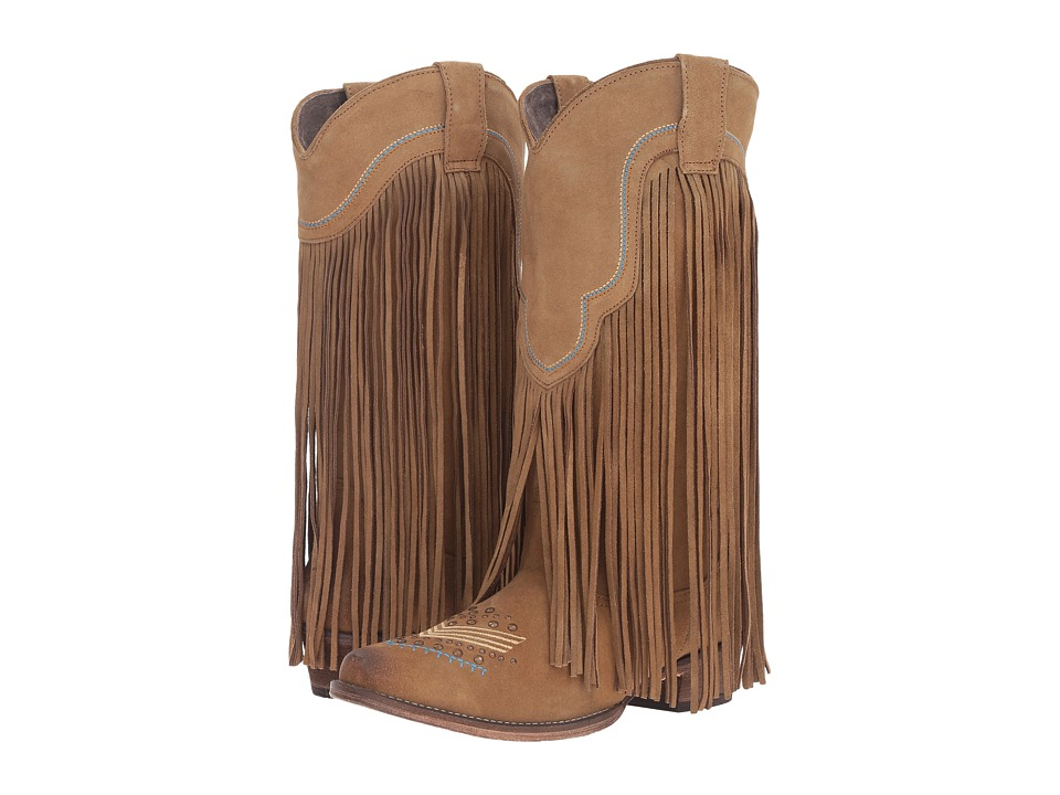 Roper On The Fringe (Tan) Cowboy Boots