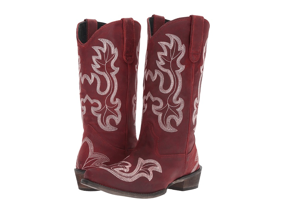 Roper Scrollin (Red) Cowboy Boots