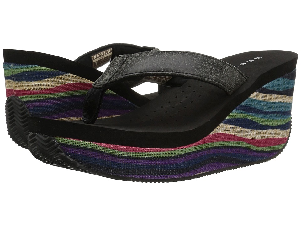 Roper Malibu (Black Woven Multi) Women