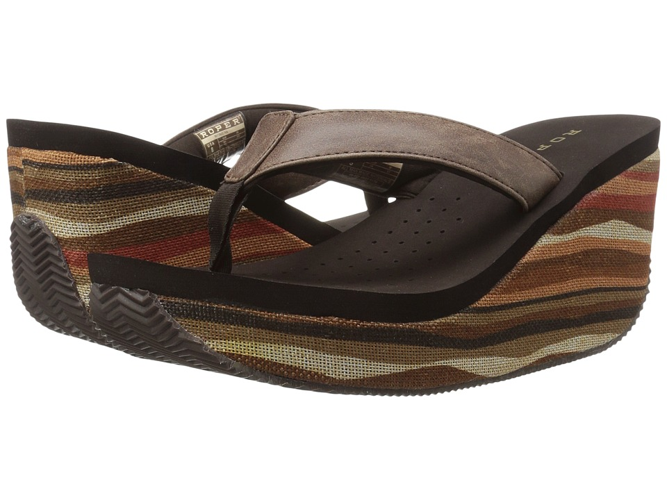 Roper Malibu (Brown Woven Multi) Women