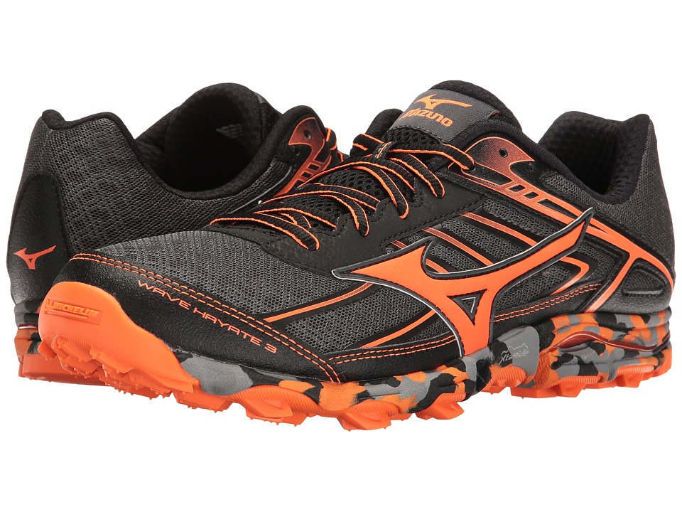 Mizuno Wave Hayate 3 (Dark Shadow/Clownfish/Black) Men's ...