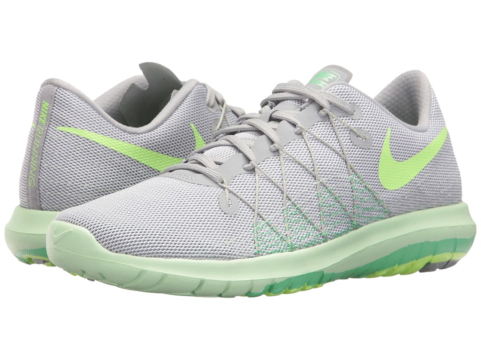 Nike - Flex Fury 2 (Wolf Grey/Ghost Green/White/Fresh Mint) Women's Running Shoes