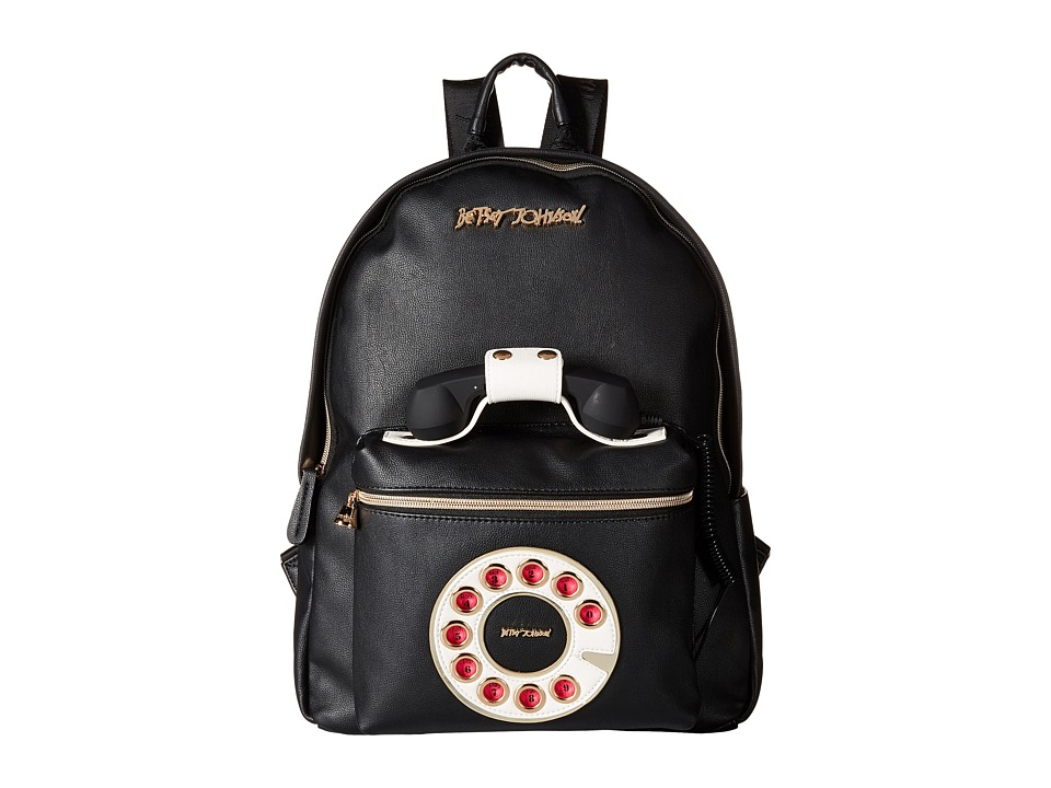 Betsey Johnson - Telephone Backpack (Black) Backpack Bags
