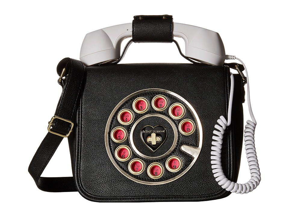 Betsey Johnson - Phone Crossbody (Black) Cross Body Handbags