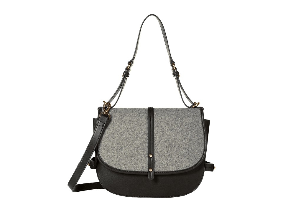 Steve Madden - Bmynes Saddle Bag (Black) Handbags