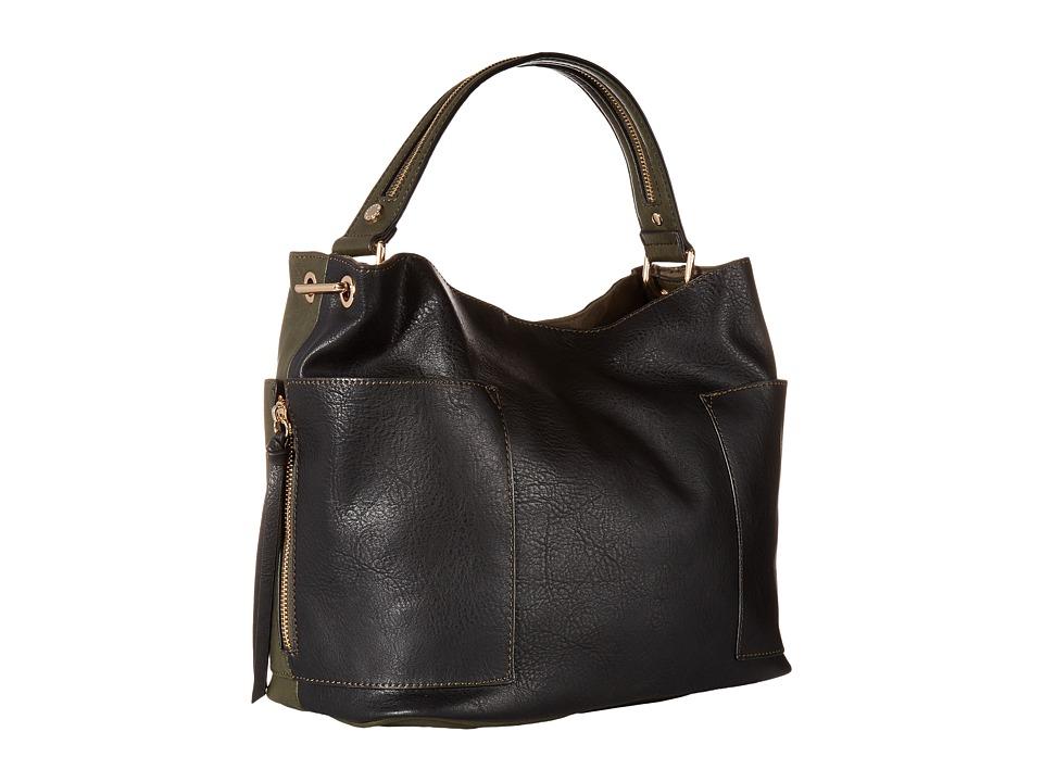 Steve Madden - Bkole Kolt Bucket Two-Tone (Black) Handbags