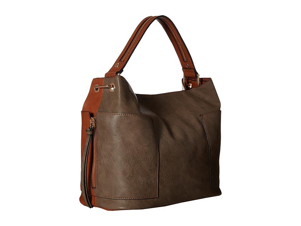 Steve Madden - Bkole Kolt Bucket Two-Tone (Grey) Handbags