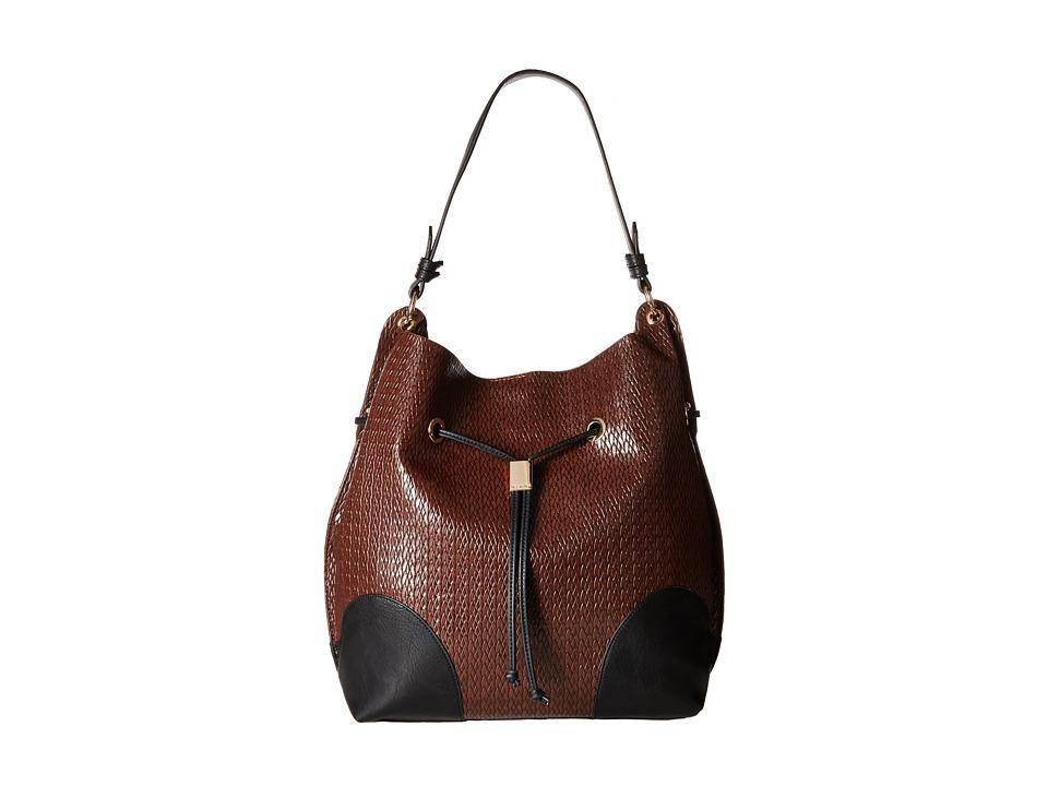 Steve Madden - Bmarx Woven Bucket (Cognac) Handbags