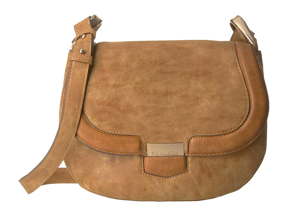 Steve Madden - Bpikee Saddle Bag (Tan) Handbags
