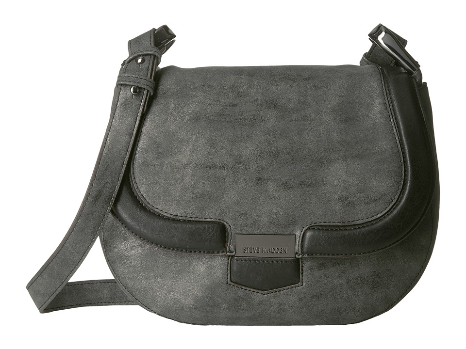 Steve Madden - Bpikee Saddle Bag (Charcoal) Handbags