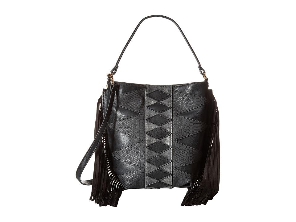 Steve Madden - Bhutch Patchwork Hobo (Black) Hobo Handbags