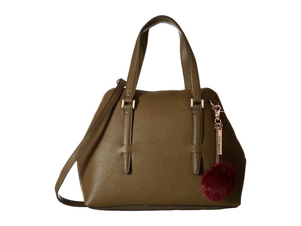 Steve Madden - Bjade Peekaboo Satchel (Olive) Satchel Handbags