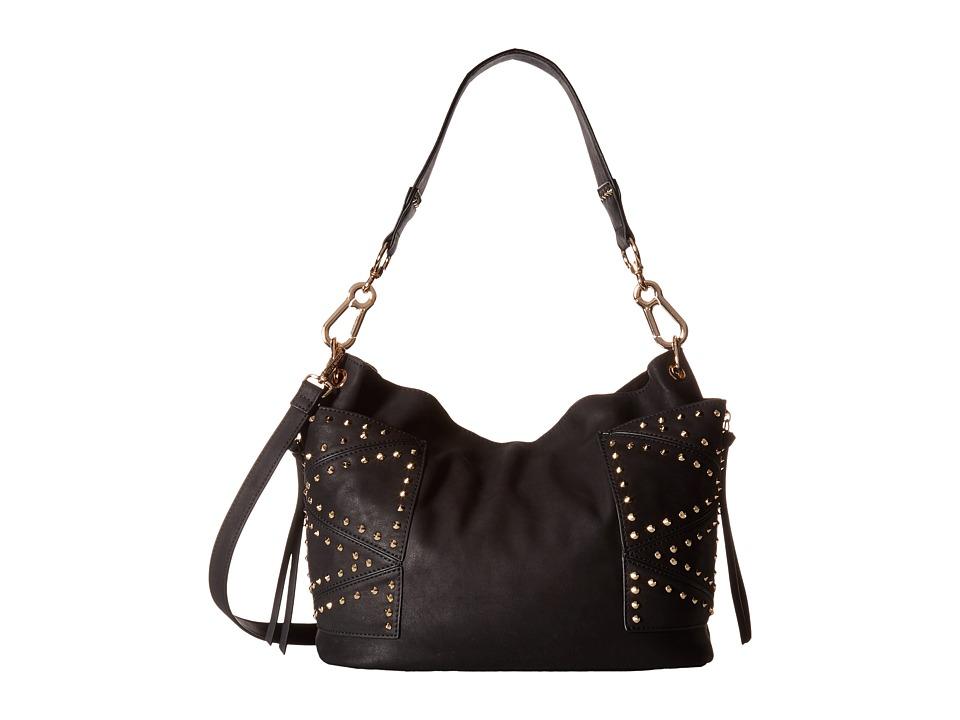 Steve Madden - Bkyrah Kolt Stud Pocket (Black/Gold) Handbags
