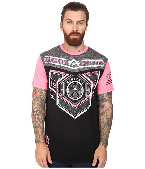 American Fighter Brevard Short Sleeve Football Crew Tee - Black/Pink